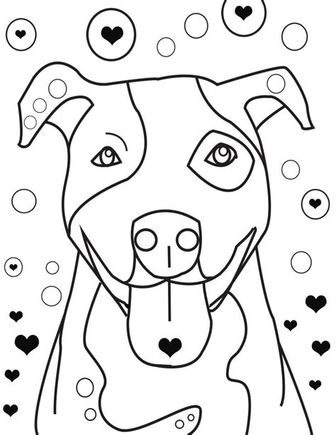pitbull coloring pages to download and print for free