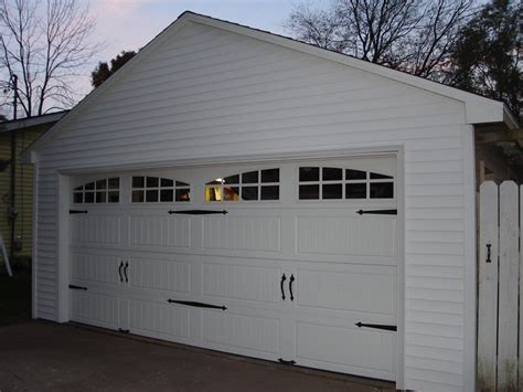 garage carrier detached garage facelift carriage door opener vinyl