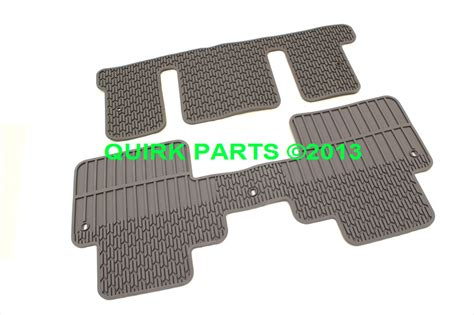 Rubber Floor Mats For Chevy Traverse by 2012 2014 Chevrolet Traverse 3rd 2nd Row Rubber Floor