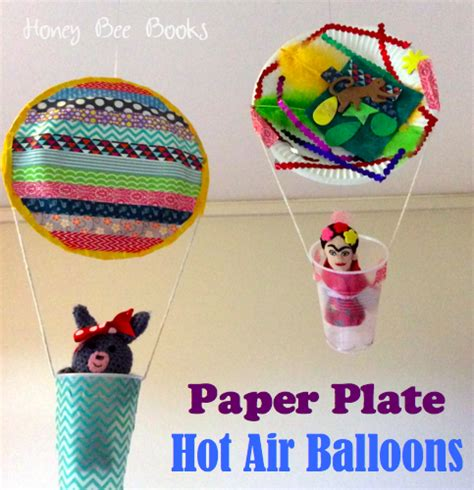 Paper Crafts For Preschoolers - 20 paper plate crafts for preschoolers air balloons