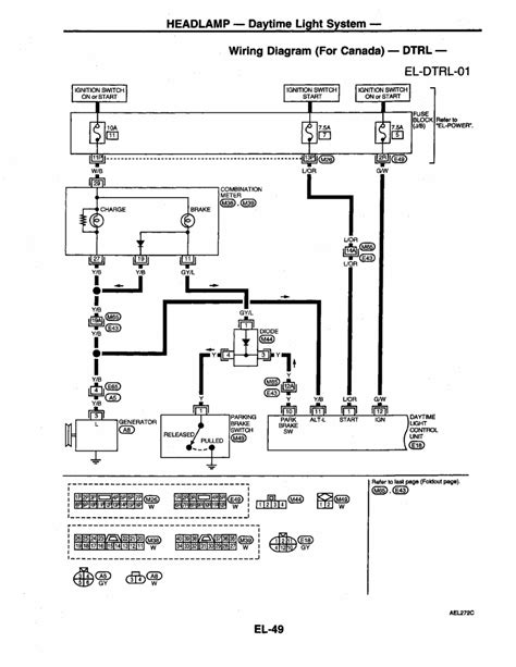 2001 nissan frontier headlight connector diagram wiring