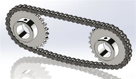 solidworks tutorial chain chain and sprocket step iges solidworks 3d cad model