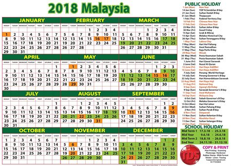new year 2018 calendar malaysia 2018 calendar malaysia merry