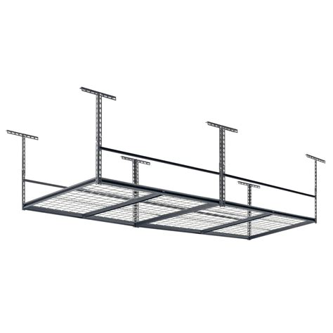 ceiling storage rack rack 96 in l x 48 in w x 28 in h adjustable ceiling storage rack lr4896 sv the home