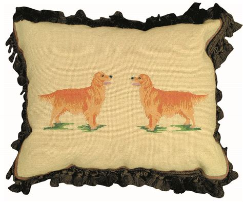 golden retriever needlepoint needlepoint retro 1920 s pillow golden retriever