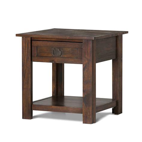 simpli home monroe end table end table simpli home monroe home furniture design