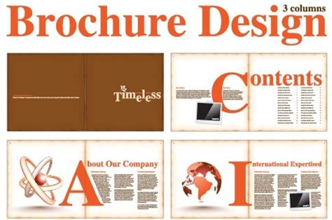 graphic design software for magazine layout vector brochure and magazine layout design set free vector