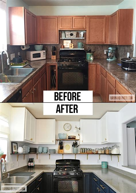 before after kitchen remodel for under 65 our low budget kitchen remodel before after 187 hannah