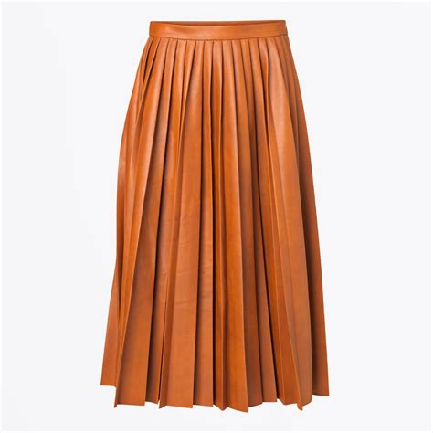 asla pleated leather skirt pleated skirts by malene birger