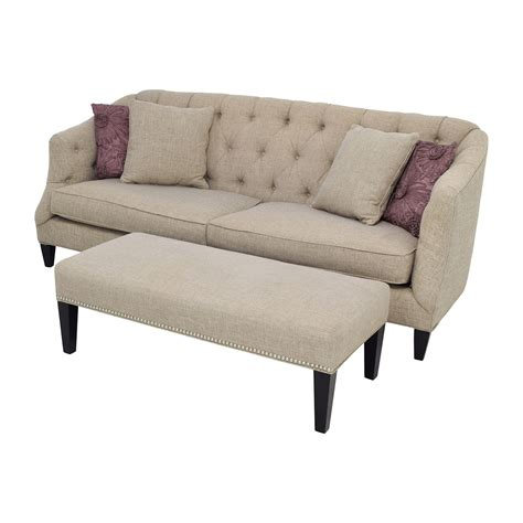 tufted beige sofa 71 off raymour and flanigan raymour flanigan tufted