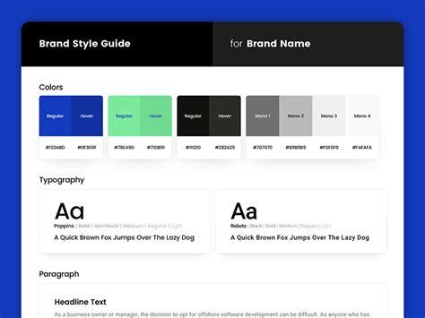 Brand Style Guide Sketch Freebie Freebie Download Sketch Resource Sketch Repo Sketch Style Guide Template