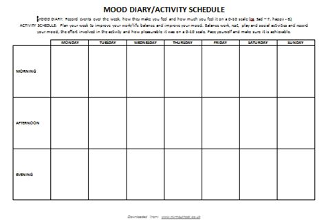 mood diary template mood diary template 28 images morning depression mood