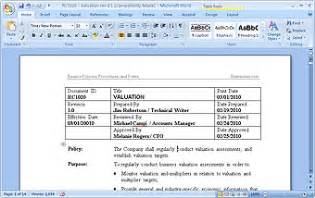 Policy And Procedure Template Microsoft Word by Ms Word Policies And Procedures Templates