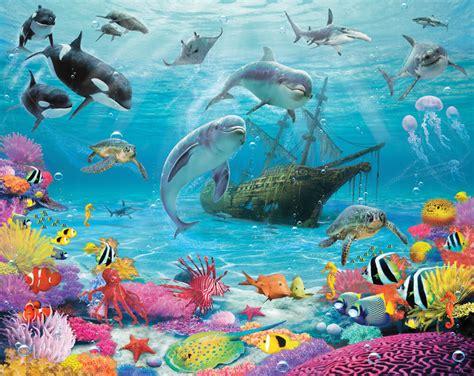 sea wall murals walltastic sea adventure wall mural bubs n grubs