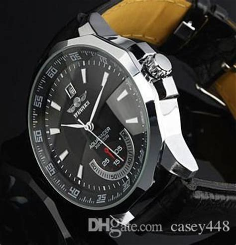 Winner Skeleton Leather Automatic Mechanical Watc Diskon 2017 new brand winner leather automatic mechanical