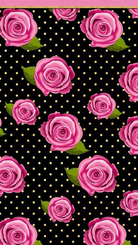 flor rosa papel de parede de bolinhas papel de parede