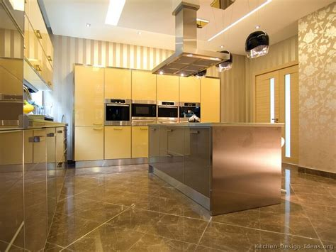 yellow and brown kitchen ideas contemporary kitchen cabinets decorating