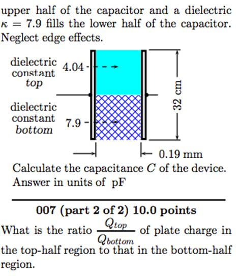 capacitor and dielectrics a capacitor is constructed from two square metal p chegg