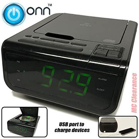 onn cd am fm alarm clock radio with digital tuning alarm and usb port to 708088990410 ebay