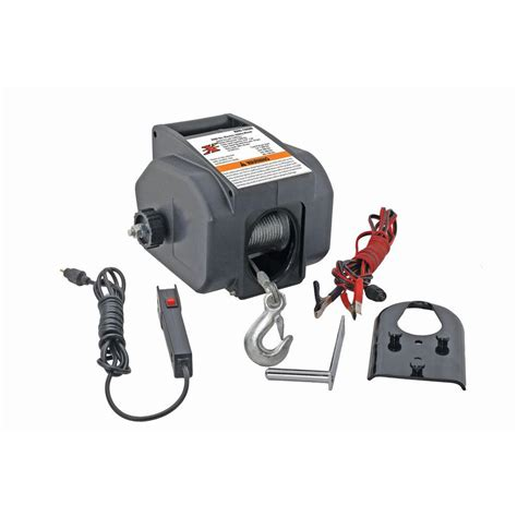 Winch Electric 1 Ton pro lift 1 ton portable electric winch i 9620 the home depot