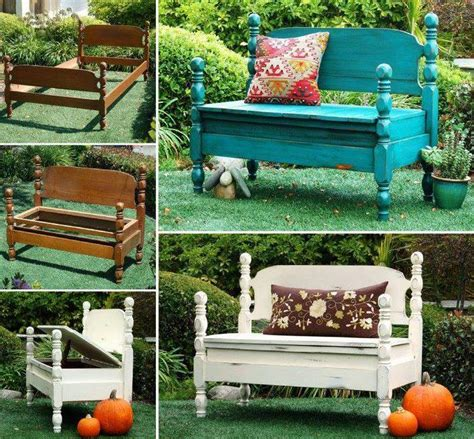 how to make a bed bench how to turn beds into garden bench