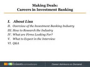 Careers In Investment Banking From Mba by Careers In Investment Banking
