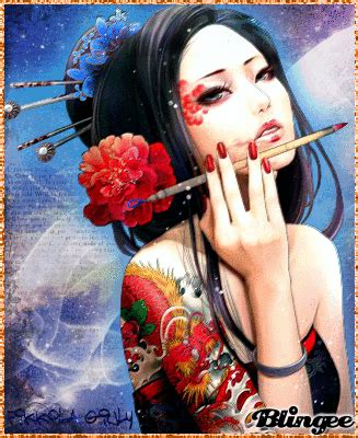 geisha assassin tattoo geisha tattoo picture 125745267 blingee com