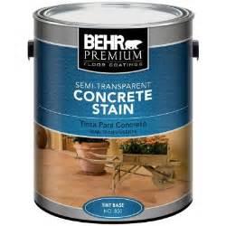concrete stain home depot behr premium 1 gal semi transparent concrete stain 85001