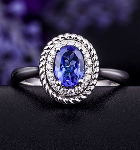 antique sapphire and halo engagement ring with 1