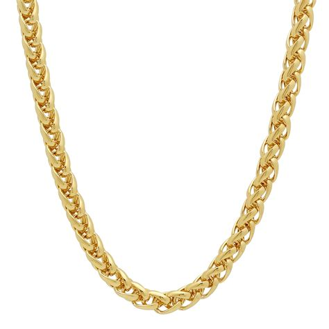 gold plated 5mm 14k gold plated wheat chain ebay