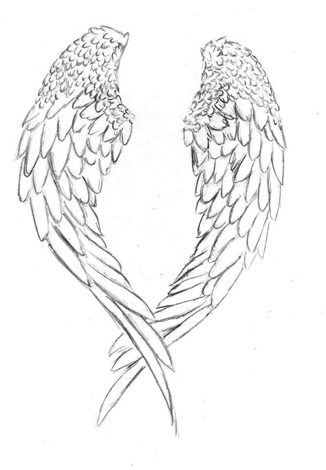free angel wing coloring pages