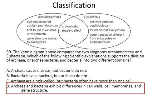 archaebacteria vs eubacteria venn diagram venn diagram comparing bacteria and archaea choice image