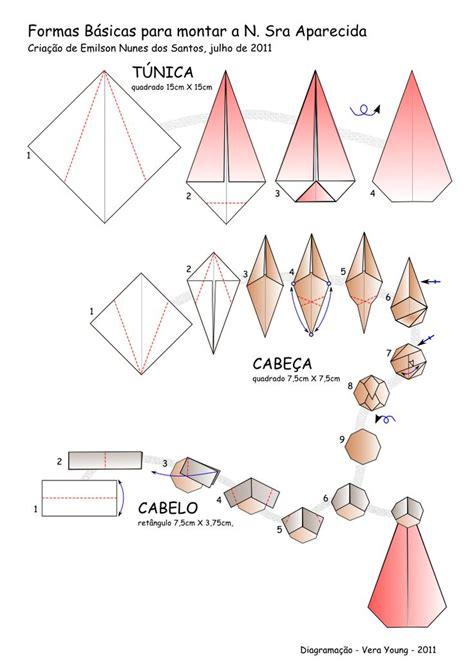 Origami Corpus Christi - diagrama da n sra aparecida criada por emilson n dos