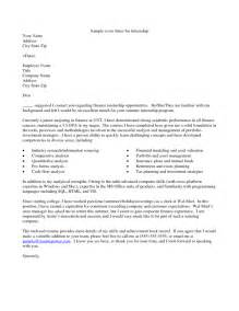 Finance Cover Letter Internship by 29 Excellent Cover Letters For Internship Applications