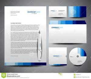 business stationery template blue stock images image