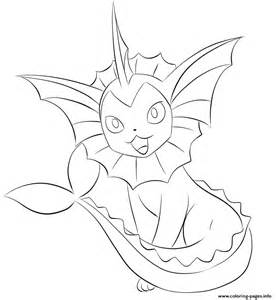 134 vaporeon pokemon coloring pages printable