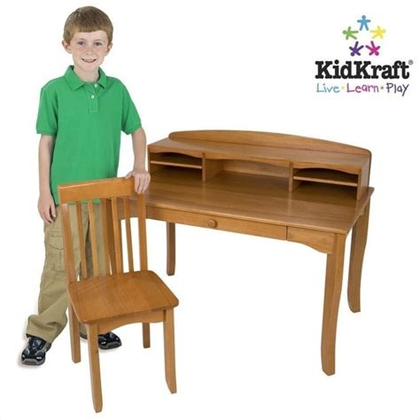 Kidkraft Avalon Kids Desk With Hutch And Chair In Honey Kidkraft Avalon Desk With Hutch White 26705