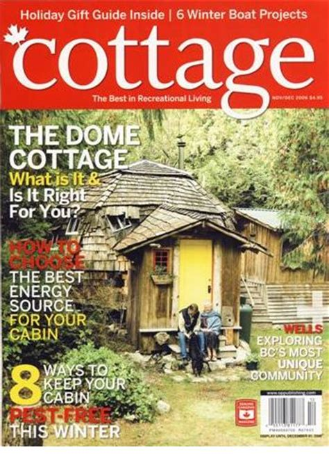 cottage magazine as featured in cottage magazine welcome to the dome