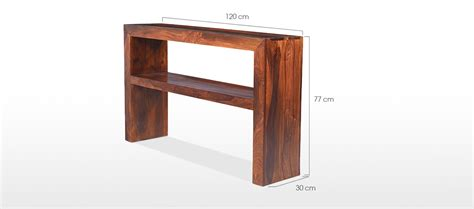 cube console cube sheesham console table quercus living