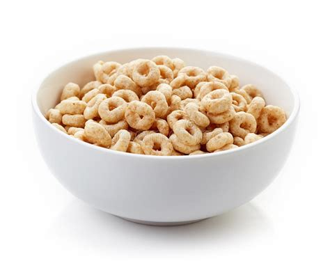 cheerios 4 whole grains bowl of whole grain cheerios cereal isolated on white