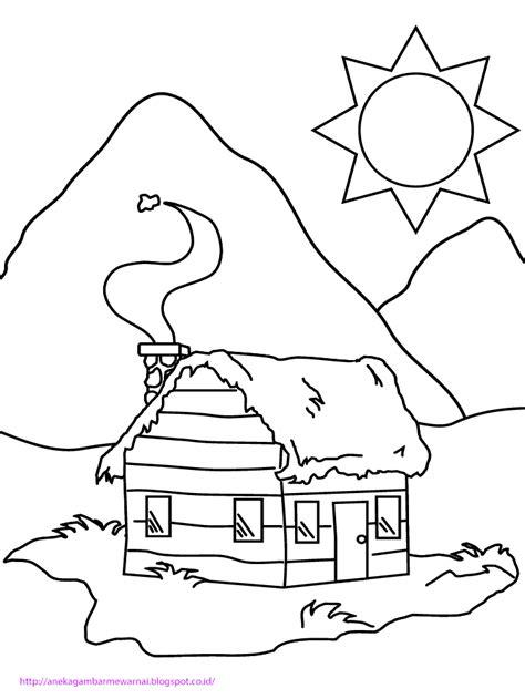 gambar sederhana untuk tk gambar mewarnai rumah untuk anak paud dan tk