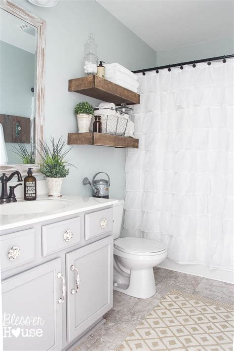 farmhouse bathrooms ideas modern farmhouse bathroom makeover reveal