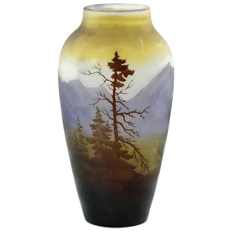 emile galle vase emile gall 233 nouveau vosges landscape cameo