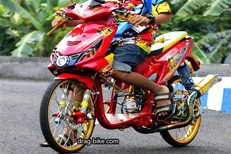 Warna Modifikasi Motor by Modifikasi Motor Beat Fi Warna Merah Putih