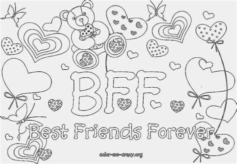 Bff Diploma Coloring Pages Best Friends Forever Coloring Pages For Free