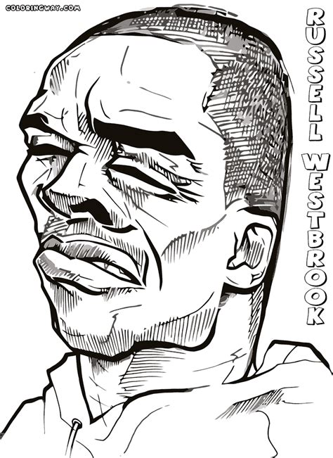 russell westbrook coloring pages free printable online