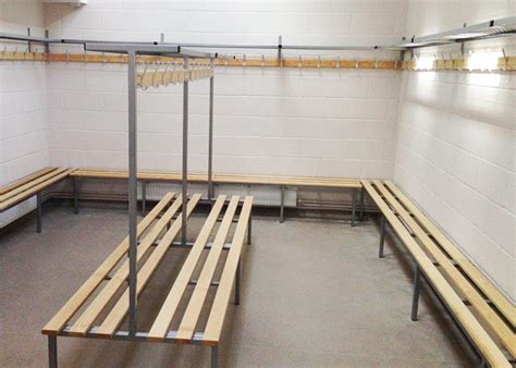 changing room benching changing room bench installation in rugby club ese