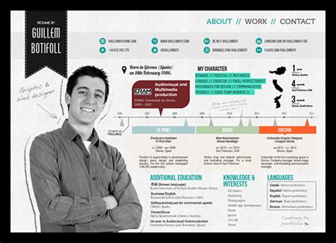 template cv kreatif online 50 awesome resume designs that will bag the job idevie