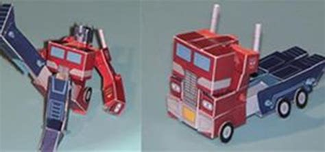 How To Make Optimus Prime Out Of Paper - make optimus prime papercraft 171 papercraft