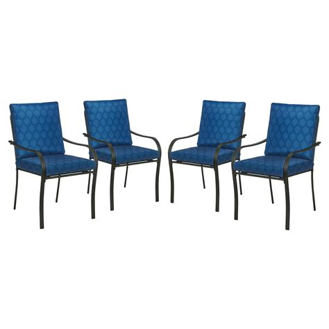 Kmart Chairs Dining Essential Garden Bailey 4 Dining Chair Set Blue Limited Availability